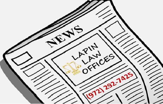 Lapin Law Offices focuses on asset protection, business law, criminal defense, estate planning and probate, family law, firearms and 2nd amendment law, and real estate law. Call us at (972) 292-7425.
